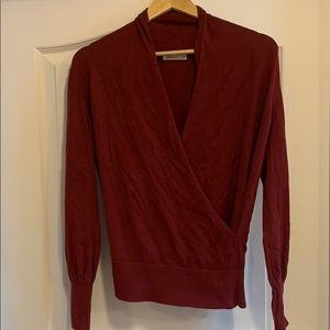 Cool Red Wrap Sweater